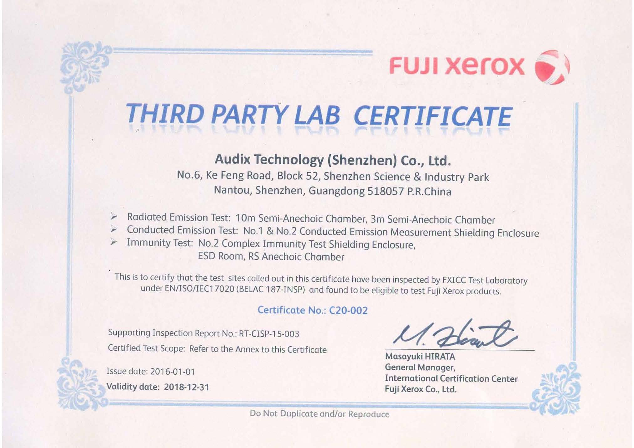 Audix Corporation Technique Service Group About Technique Group